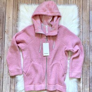 Lululemon So Sherpa Pink Hooded Jacket